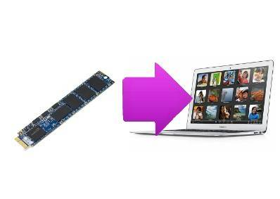 Changement disque dur SSD Macbook Air 11